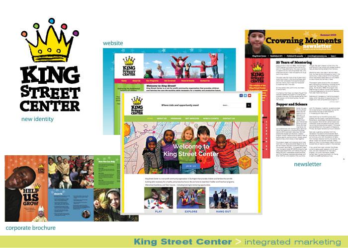 King Street Center integrated marketing portfolio