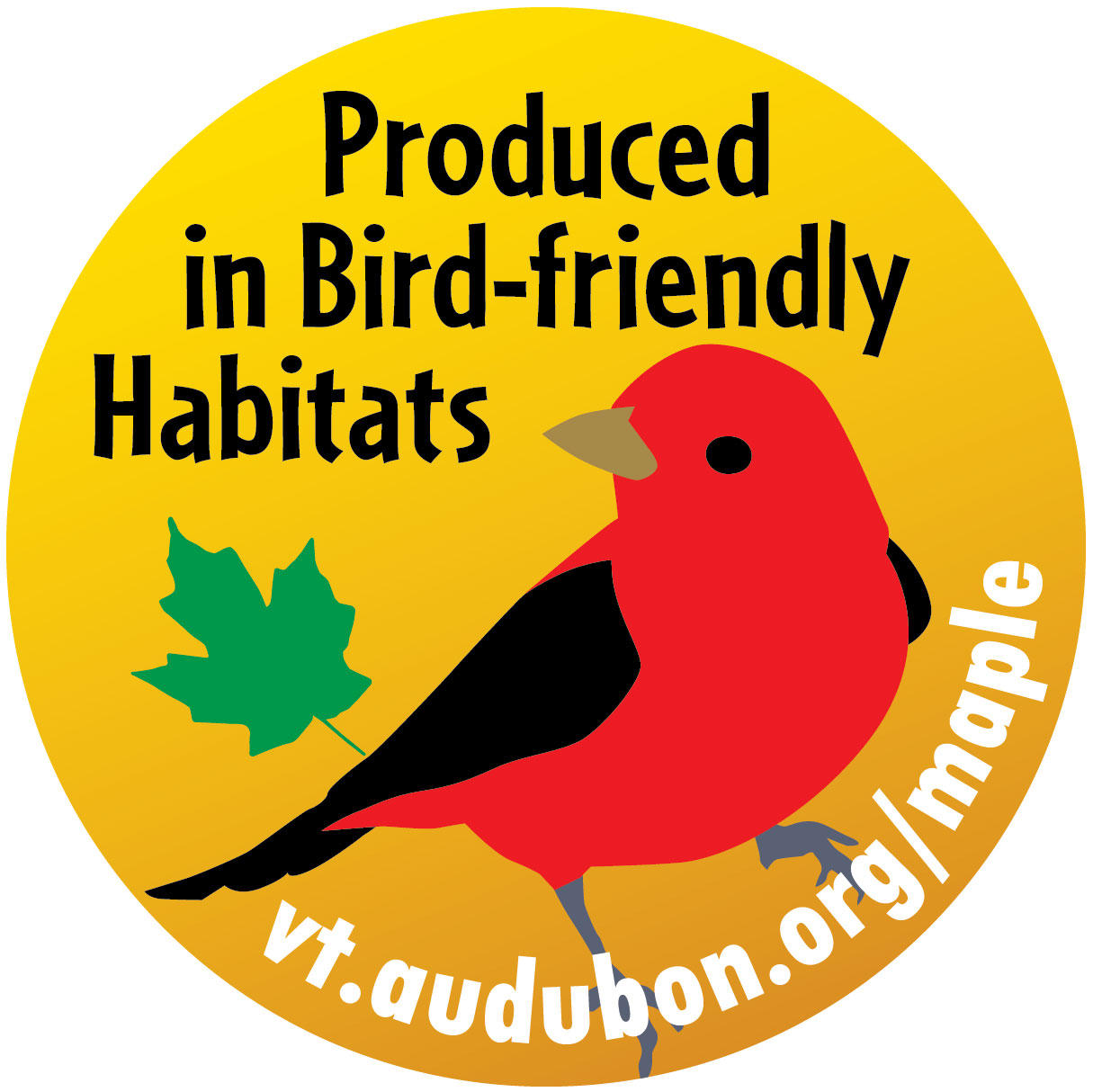 bird-friendly-maple-label Audubon Vermont